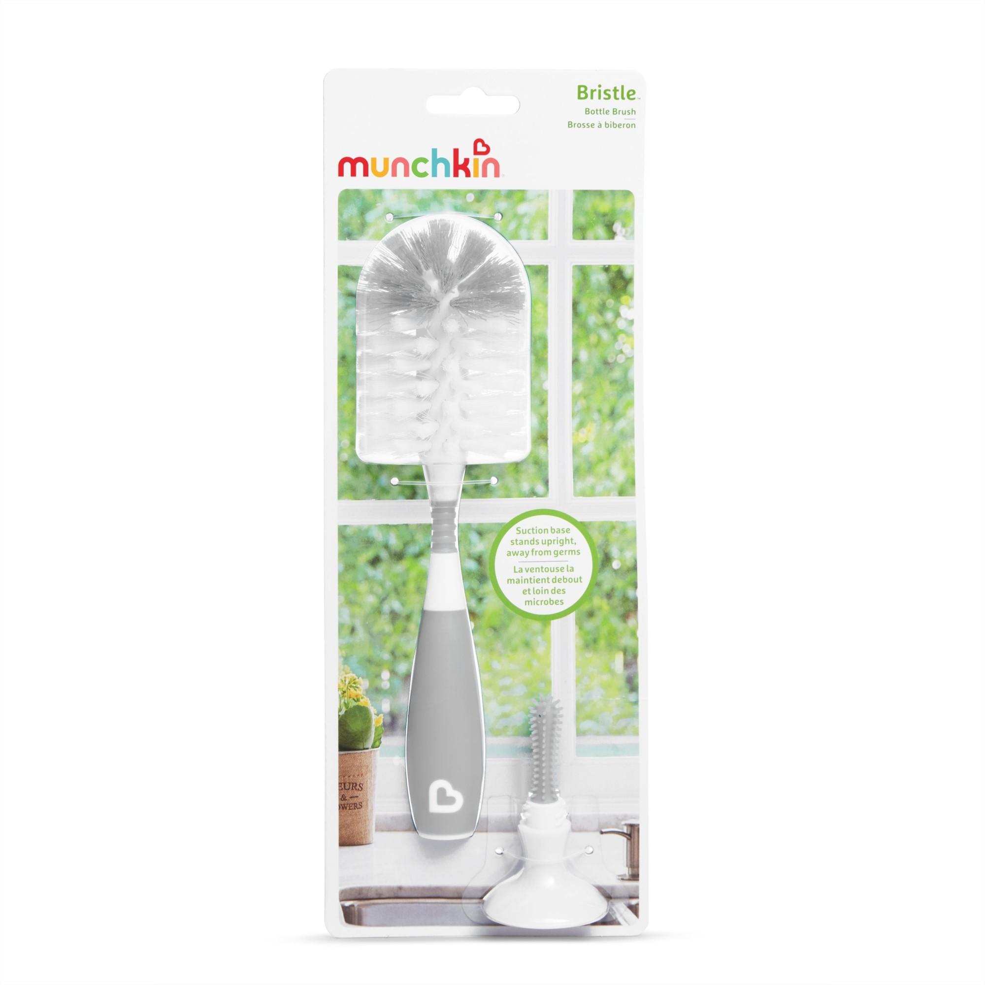 Escova de mamadeira com ventosa e cabo flexível Cinza - Munchkin