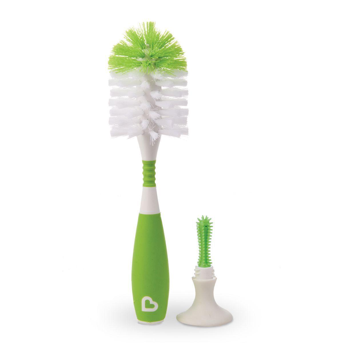 Escova de mamadeira com ventosa e cabo flexível Verde - Munchkin