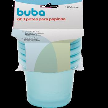 Kit 3 Potes para papinha - Buba