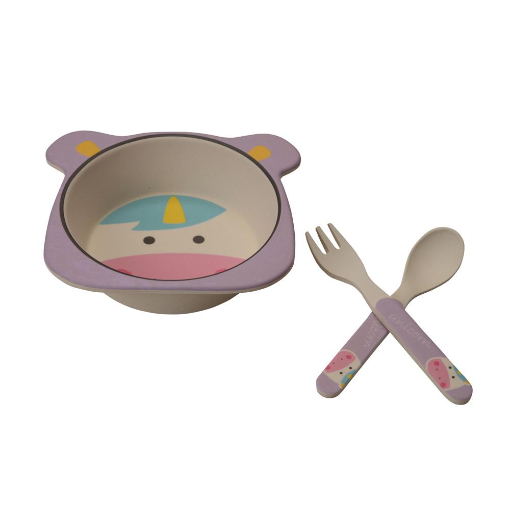 Kit Alimentação Unicórnio (3 peças) - Girotondo