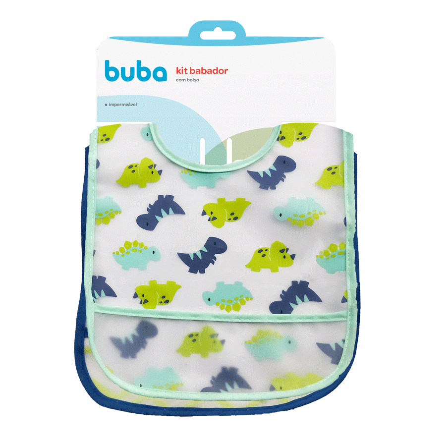 Kit com 2 Babadores Dino - Buba