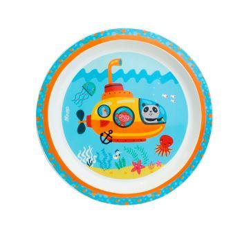Kit com 3 Pratos Rasos (Espaço Sideral, Fundo do Mar e Elefante) - Clingo