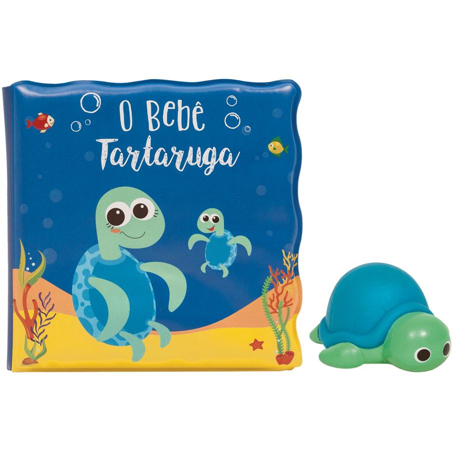 Kit Livrinho de Banho com Tartaruga - Buba