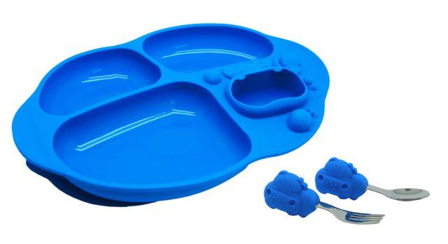 Kit para Alimentação com 4 Divisórias Hipopótamo - Marcus & Marcus