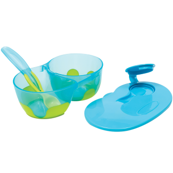 Kit Refeição com Divisória Azul - Buba