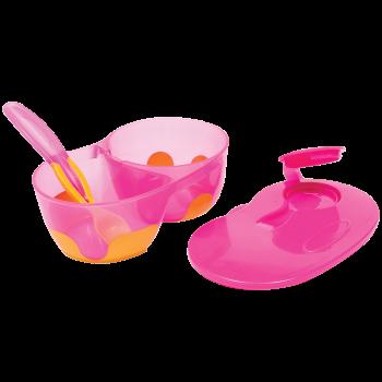 Kit Refeição com Divisória Rosa - Buba