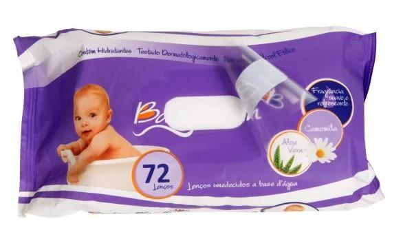 Lenços Umidecidos com 72 und. - Baby Bath