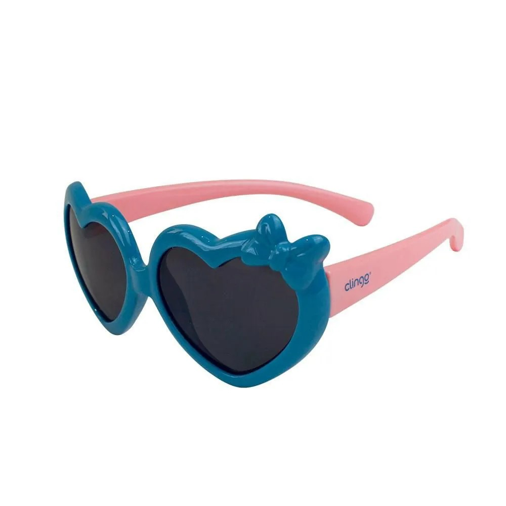 Óculos Escuro Coração Azul e Rosa - Clingo