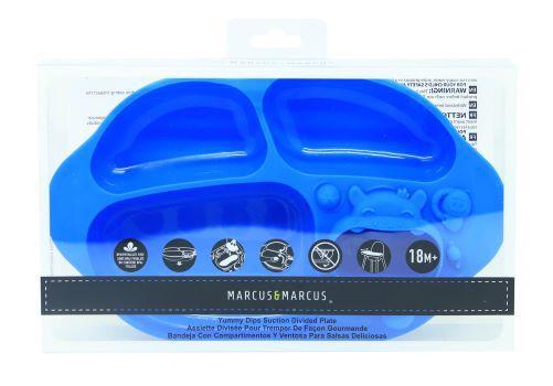 prato com divisória e sucção 4 compartimentos Hipopótamo