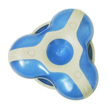 Prato com Divisórias Triangular Azul - Clingo