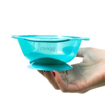 Prato com Ventosa Azul - Clingo