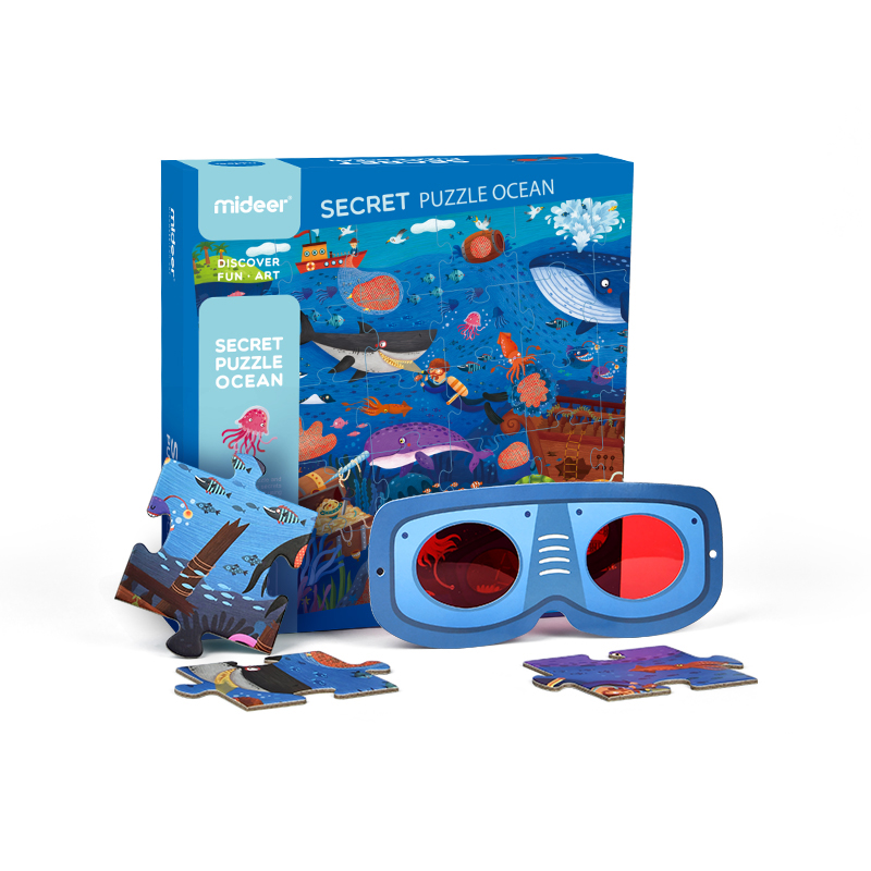 Quebra Cabeça Secreto Oceano - Mideer