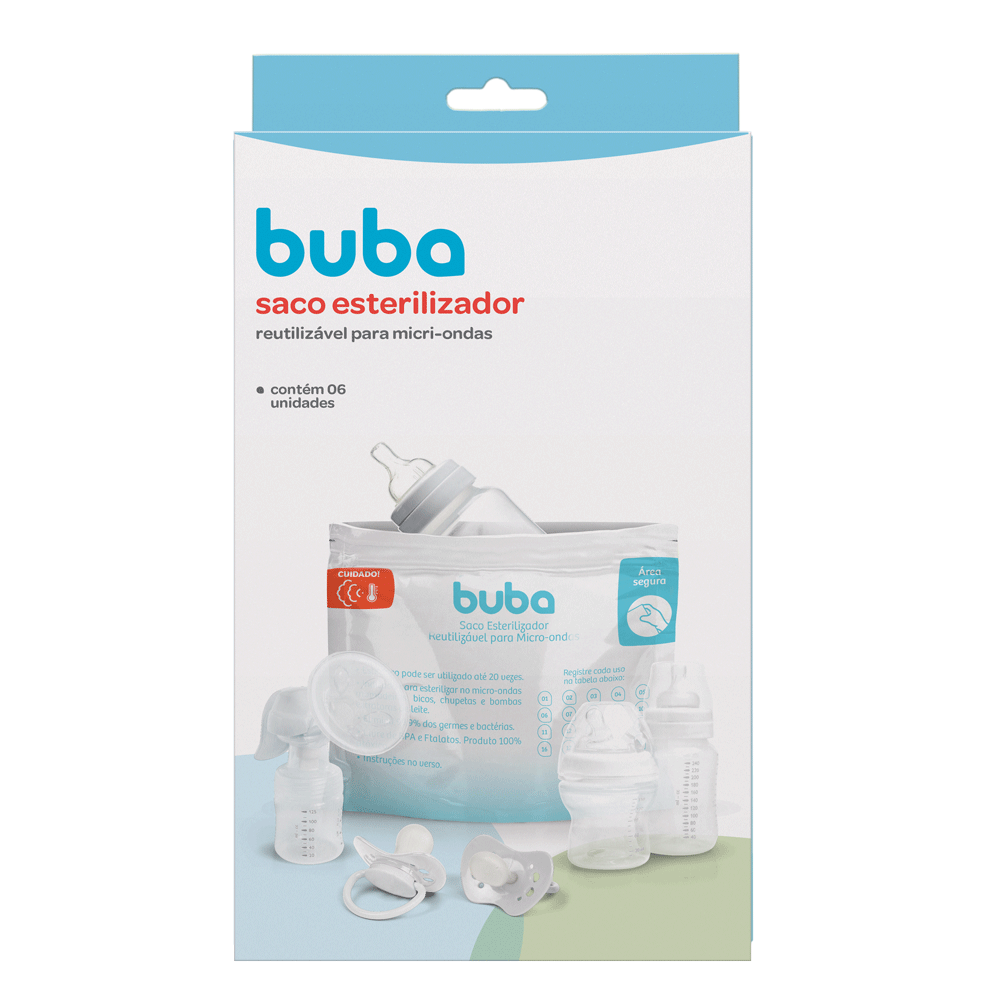 Saco Esterilizador Reutilizável para Microondas - Buba