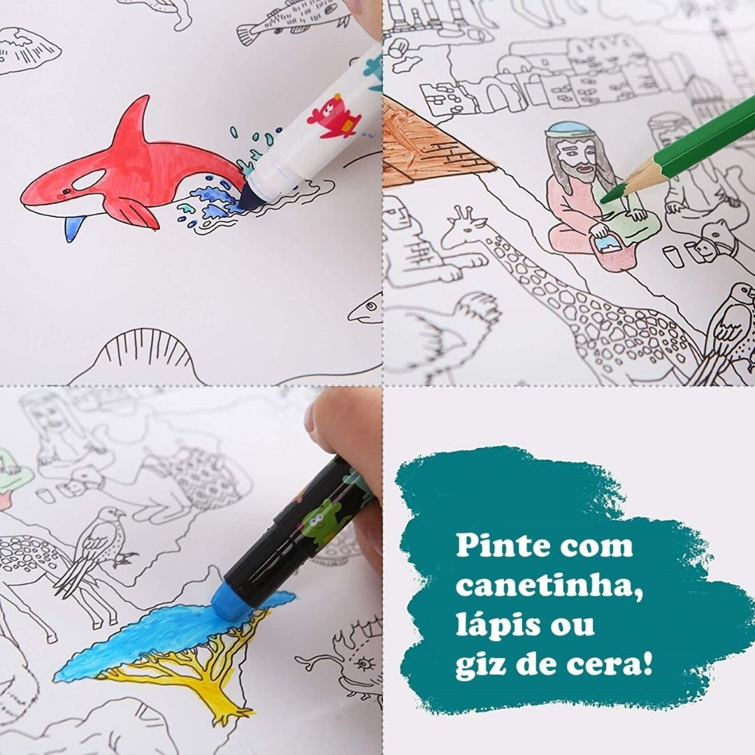 Super Poster para Colorir