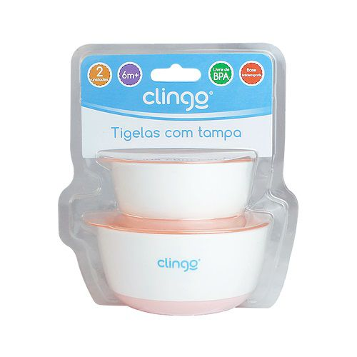 Tigela com Tampa Rosa - Clingo