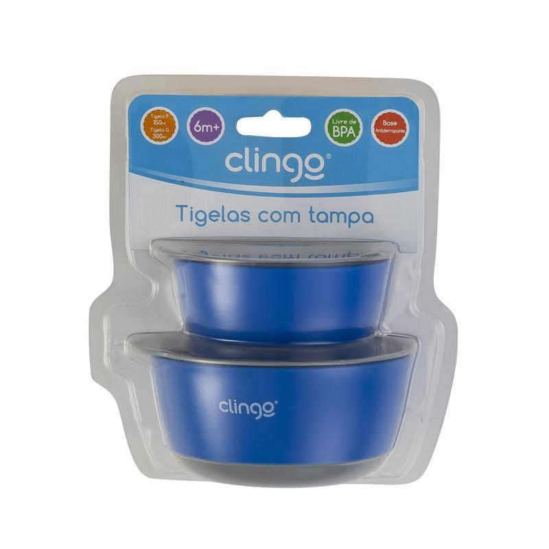 Tigelas com Tampa Colors Azul - Clingo