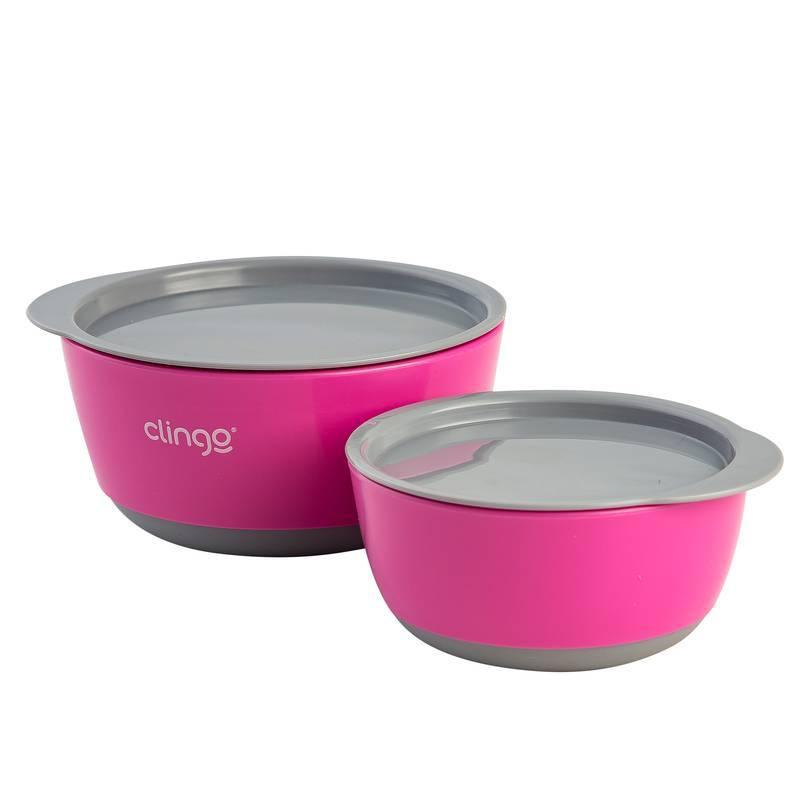 Tigelas com Tampa Colors Rosa - Clingo