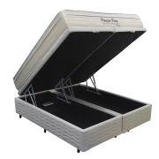 Conjunto Cama Box Baú (Box Baú + Colchão) Mattress One Premier Firm Queen Size 1,58 x 1,98 com Molas Ensacadas - 29cm - Firme