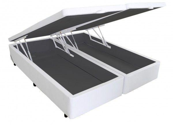 Cama Baú Korino Branco - Queen Size 1,58 x 1,98
