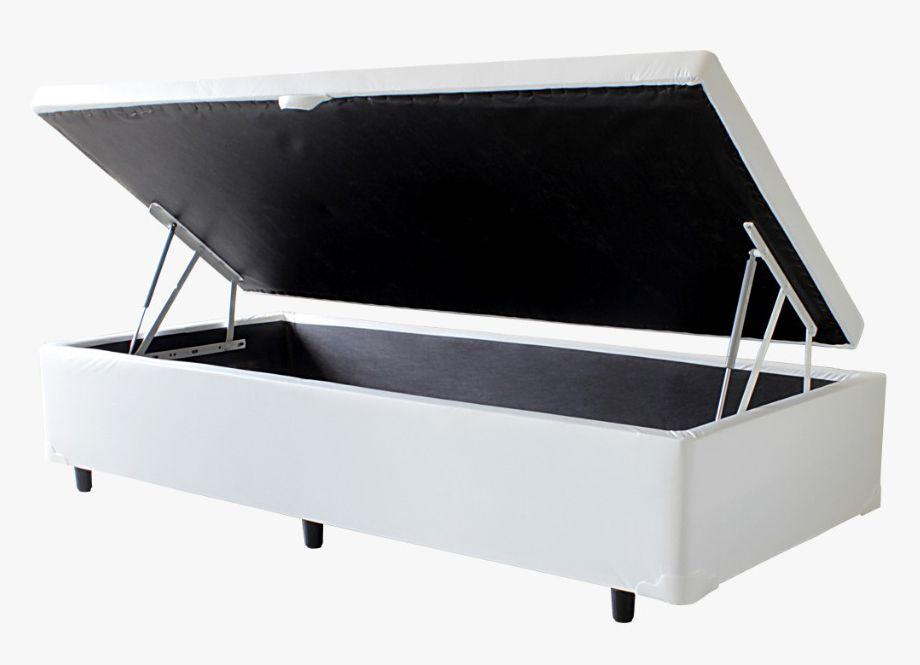 Cama Baú Korino Branco - Solteiro 0,88 x 1,88