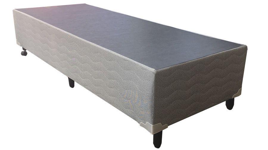 Cama Box Malha Cinza  0,96 x 2,03 - Solteiro Americano