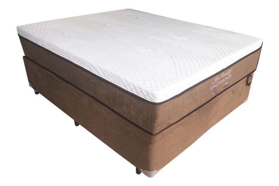 Cama Box + Colchão com Molas Ensacadas Intercoil Infinity Casal 1,38 x 1,88 - 34cm  - Firme
