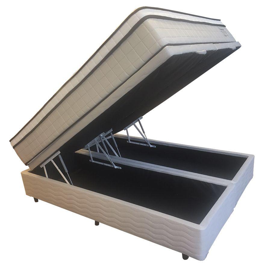 Conjunto Cama Box Baú (Box Baú + Colchão)  Shifman Presidencial King Size 1,93 x 2,03 - Molas Ensacadas - Macio - 34cm