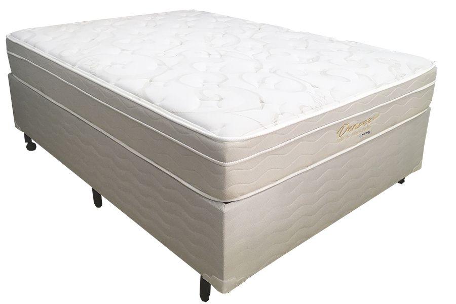 Conjunto Box Mattress One Denver Casal PAdrão 1,38 x 1,88 - 25cm - Macio