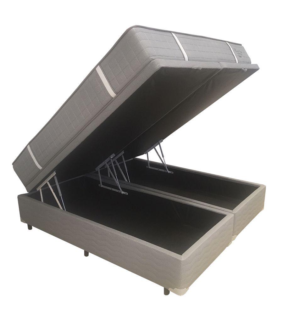 Conjunto Cama Box Baú (Box Baú + Colchão)  Shifman Tiffany King Size 1,93 x 2,03 - Molas Individuais Ensacadas - 30cm - Firme