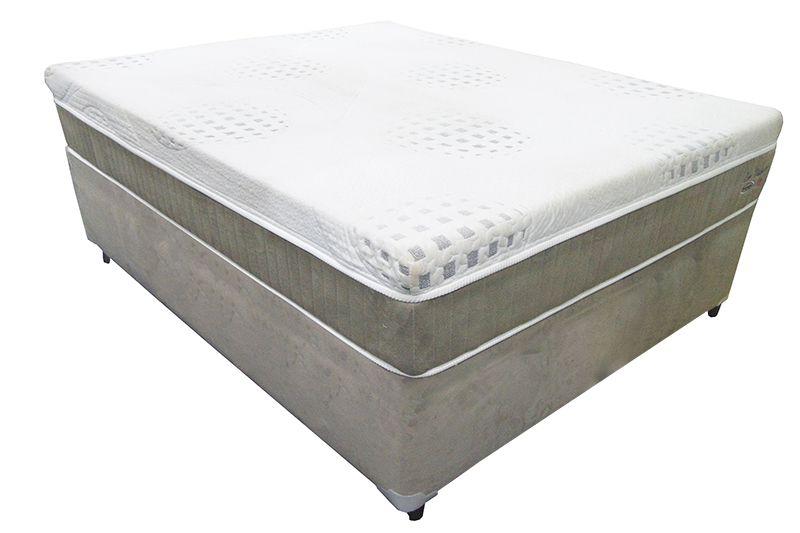 Conjunto (Colchão + Cama ) Englander Eco Visco Casal 1,38 x 1,88 com tecido em malha , 30 cm de altura e conforto firme