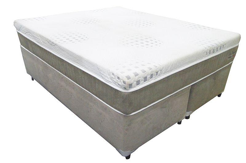 Conjunto (Colchão + Cama ) Englander Eco Visco Queen Size 1,58 x 1,98 com tecido em malha , 30 cm de altura e conforto firme.