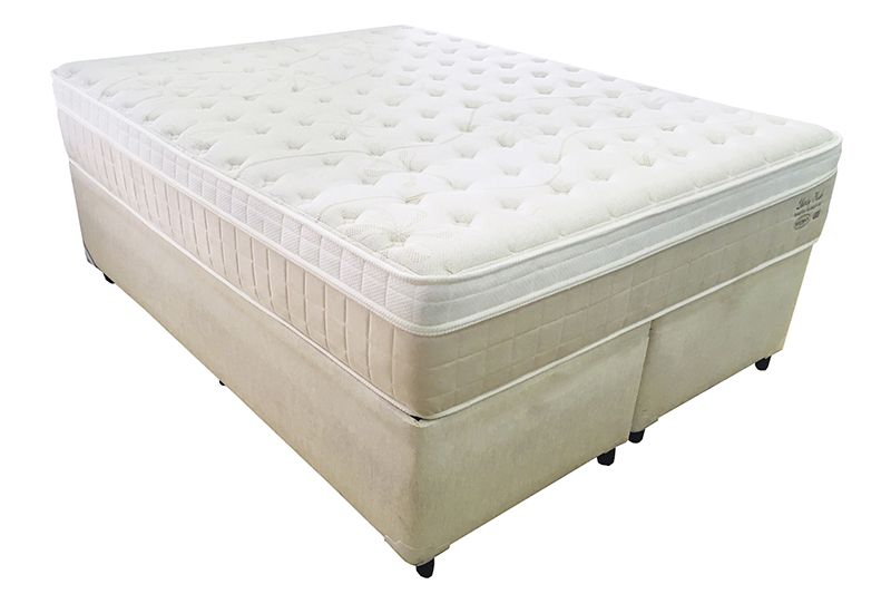 Conjunto (Colchão +  Cama Box) Shifman Liberty Plush Queen Size 1,58 x 1,98 com molas individuais ensacadas, conforto macio e 34cm de altura.