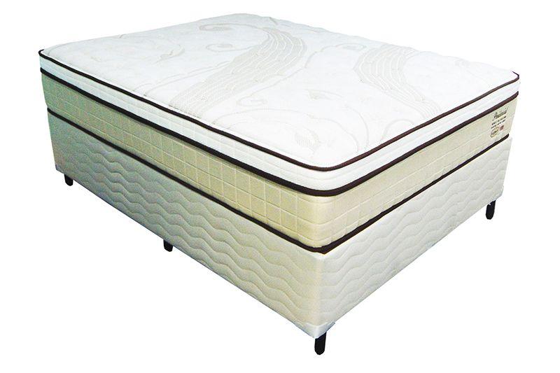 Conjunto (Colchão + Cama Box) Shifman Presidencial Casal 1,38 x 1,88 com molas ensacadas, conforto intermediário, altura de 34cm, T-Latex, Visco Gel, Ions de Prata e Coolmax.