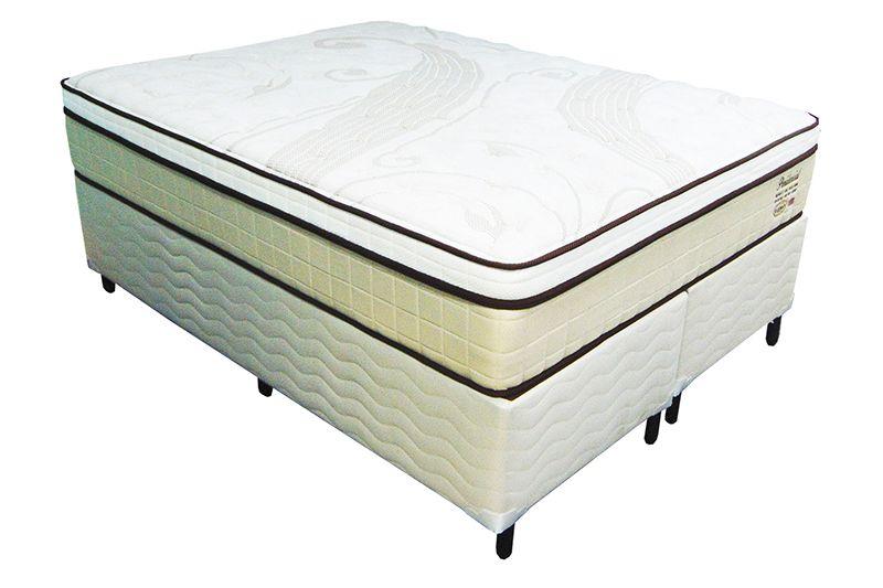 Conjunto (Colchão + Cama Box) Shifman Presidencial King Size 1,93 x 2,03 com molas ensacadas, conforto intermediário, altura de 34cm, T-Latex, Visco Gel, Ions de Prata e Coolmax.