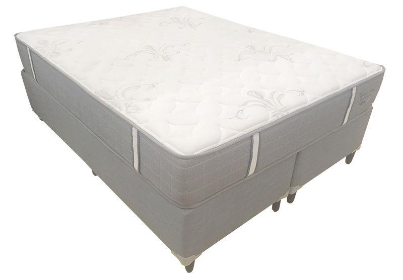 Conjunto (Colchão + Cama Box) Shifman Tiffany Queen Size 1,58 x 1,98 com molas individuais ensacadas, 30cm de altura, conforto firme, T-Latex e Infused Gel.