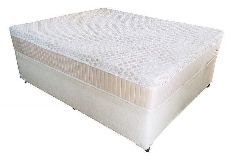 Conjunto (Colchão + Cama) Englander Eco Látex Casal 1,38 x 1,88 com 30 cm de altura e conforto firme