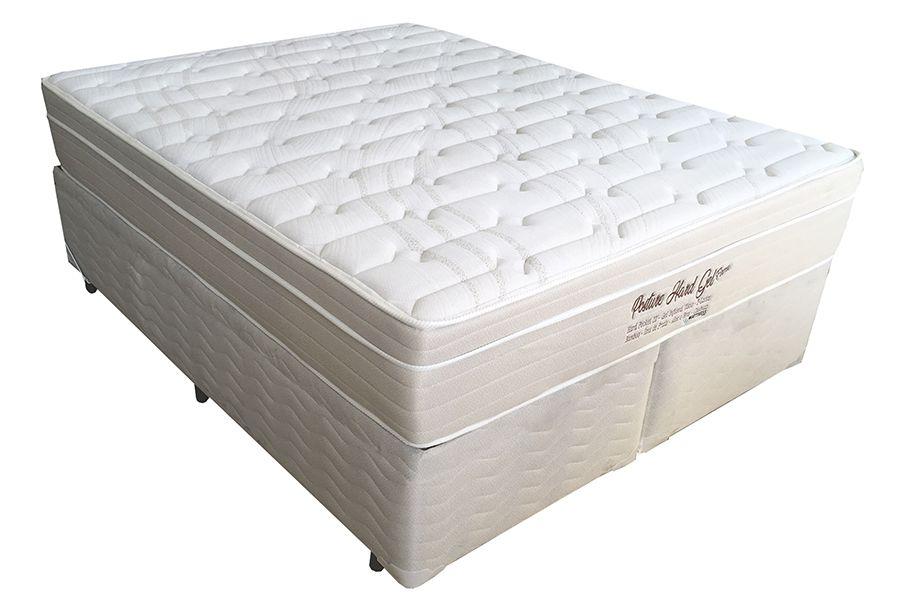 Conjunto (Colchão + Cama Box)  Mattress One Posture Hard Gel Queen Size 1,58 x 1,98  com Molas Individuais Ensacadas , 32cm e conforto Firme
