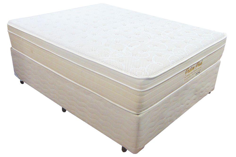 Conjunto Colchão +  Cama Box Mattress One Posture Plush Casal 1,38 x 1,88 com molas individuais ensacadas 32cm de altura e conforto macio