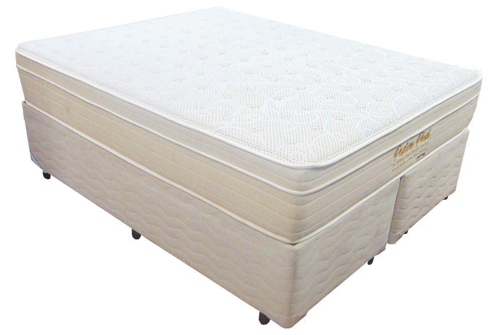 Conjunto Colchão +  Cama Box Mattress One Posture Plush Queen Size 1,58 x 1,98 com 32 cm de altura,molas individuais ensacadas e conforto macio