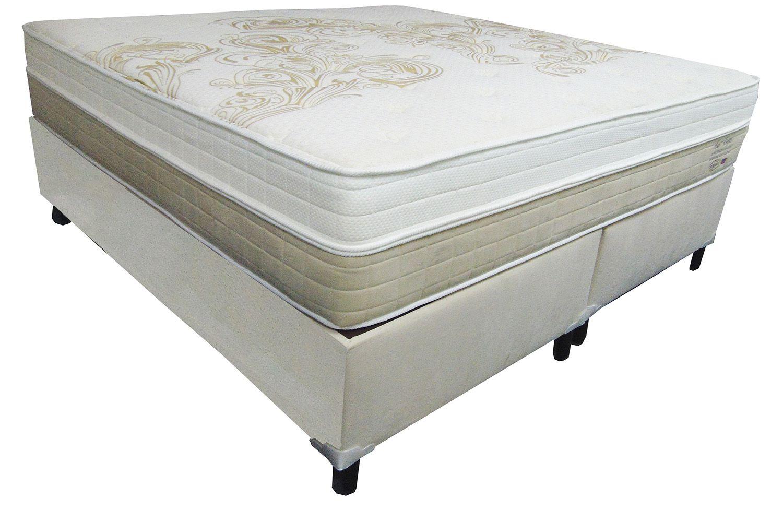 Conjunto (Colchão + Cama) Shifman Las Vegas Queen Size 1,58 x 1,98 com molas ensacadas, 38cm de altura, conforto intermediário, Gel Infused Visco, T-Latex e Ions de Prata