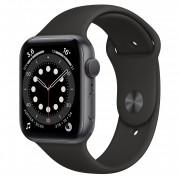 Apple Watch Series 6 44mm Cinza-espacial GPS - Pulseira Esportiva Preta