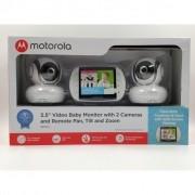 Babá Eletrônica Motorola Mbp-36S Bivolt Com 2 Câmeras Branco