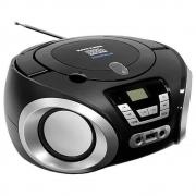 Boombox Rádio Mega Star Cd Bluetooth Fm Usb Portátil