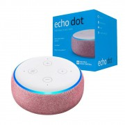 Echo Dot Amazon - Smart Speaker Com Alexa 3° Geração - Rosa