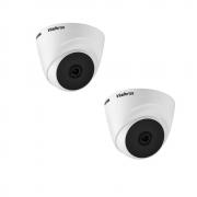 Kit 2 Câmeras Intelbras Dome Vhd 1010 D G5 10m Multi Hd Nfe