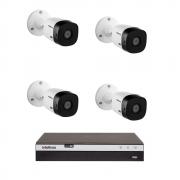 Kit 4 Câmeras Intelbras Segurança Vhl 1120b 20 + DVR Mhdx 3104