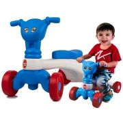 Quadriciclo Bebê Azul/Branco  Equilíbrio 18 M+ Menino 25 kg