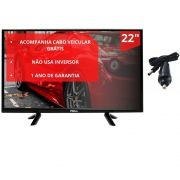 "TV Philco Led 22"" PTV22G50D - Bivolt com cabo 12v"