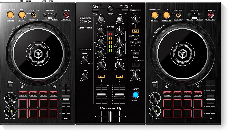 Controladora Pioneer DJ Ddj 400 Rekordbox 2 Canais Preto