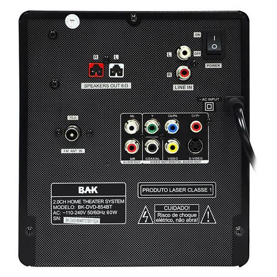 Dvd Micro System BAK  USB / Bluetooth Home Theater MP3 FM